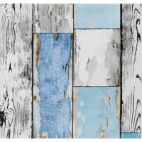 Gekkofix 12878 Mavi Ahşap Desenli Kendinden Yapışkanlı Folyo