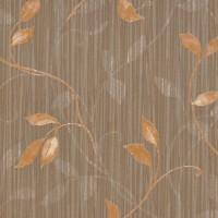 Murella 1714 Kahverengi Yapraklı Duvar Kağıdı