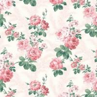 La Vetrina 2086-1 Pembe Çiçekli Duvar Kağıdı