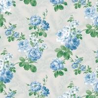 La Vetrina 2086-4 Mavi Çiçekli Duvar Kağıdı
