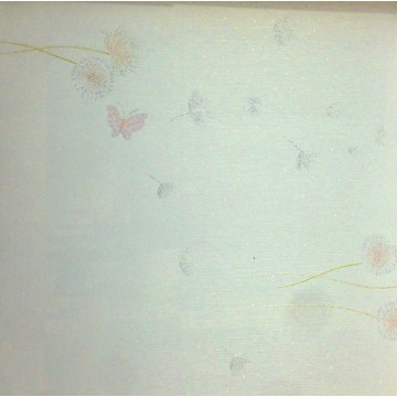 Andre Kim 738-1 Pembe Kelebekli Duvar Kağıdı