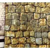Andre Kim 759-1 3D Gerçek  Görünümlü Patlatma Taş Desen Duvar Kağıdı