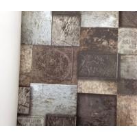 Andre Kim 763-2 Yazılı Taş Desen Duvar Kağıdı
