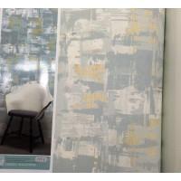 Andre Kim 777-2 Eskitme Desen Mavi Tonlarda  Duvar Kağıdı