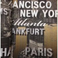 Andre Kim 783-2 Pop Art Desenli Yazılı Duvar Kağıdı