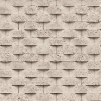 Art Deco 8158-3 Gri Taş Desenli Duvar Kağıdı