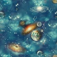 Dekor New Art 1009-a Uzay Desenli Duvar Kağıdı