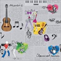 Dekor New Art 1013-a Müzik Teması Desen Duvar Kağıdı