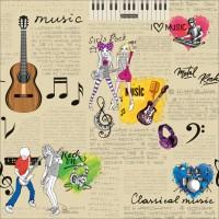 Dekor New Art 1013-b Duvar Kağıdı Müzik Desenli