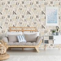 Design Plus 13111-2 Renkli Harfler Desenli Duvar Kağıdı