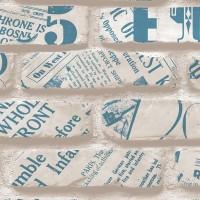 Freedom 14236-2 3D Tuğla Desenli Yazılı Duvar Kağıdı