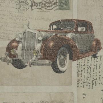 Freedom 14251-1 Klasik Otomobil Desenli Duvar Kağıdı