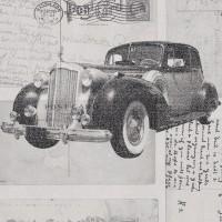 Freedom 14251-3 Duvar Kağıdı Klasik Otomobil Desenli