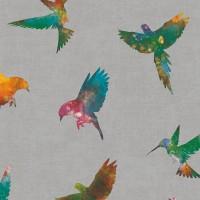 Freedom 14253-2 Renkli Kuş Desenli Duvar Kağıdı