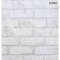 Natural Design 61004 3D Beyaz Tuğla Desen Duvar Kağıdı