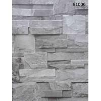 Natural Design 61006 Gri Taş Desenli Üç Boyutlu Duvar Kağıdı