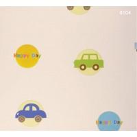 Kids Dream 6104 Arabalı Desen Duvar Kağıdı