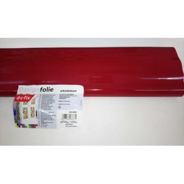 D-c-fix 343-8203 Koyu Kırmızı Parlak Kendinden Yapışkanlı Folyo ( 67,5 cm x 1,5 m )