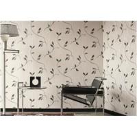 Murella 1714 Gri Siyah Yaprak Desenli Duvar Kağıdı