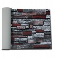 More 2103 3 Boyutlu Taş Desen Duvar Kağıdı