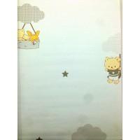 Milky Baby 400-1 Gri Ayıcıklı Duvar Kağıdı