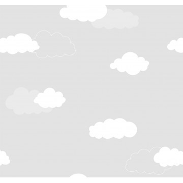 Milky Baby 405-1 Gri Bulut Desenli Duvar Kağıdı