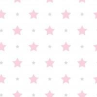 Milky Baby 412-1 Yıldızlı Pembe Duvar Kağıdı