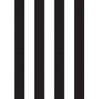 Milky Baby 430-5 Siyah Beyaz Düz Çizgili Duvar Kağıdı
