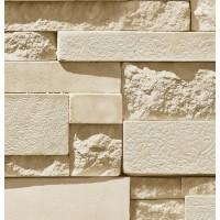 Natural 87003-3 Gerçek Taş Görünümlü 3D İthal Kağıt