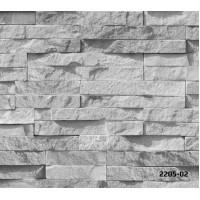 Bossini 2205-02 Taş Desenli Yerli Duvar Kağıdı 3D