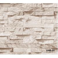 Bossini 2205-03 Taş Desen 3D Duvar Kağıdı Yerli