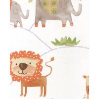 Just 4 Kids G56024 Sevimli Hayvanlar Duvar Kağıdı İthal Çocuk Odası