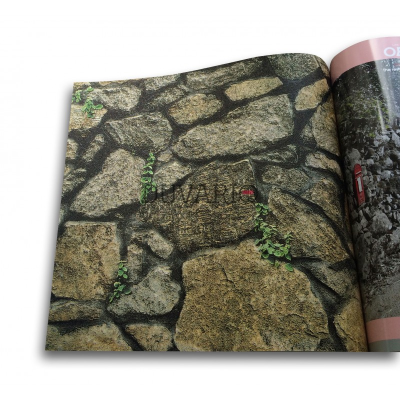 Objet 3118 1 doğal taş görünümlü duvar kağıdı