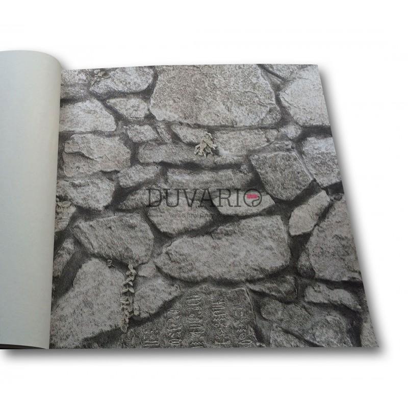 Objet 3118 3 doğal taş görünümlü duvar kağıdı