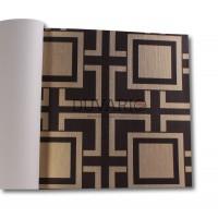 Design Time 1305 Karışık Desen Kareli Yerli Duvar Kağıdı