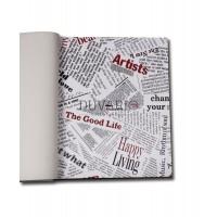 More 2702 Gazete Küpürü Yerli Duvar Kağıdı