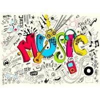 Müzik & Dans Duvar Posteri A209-001